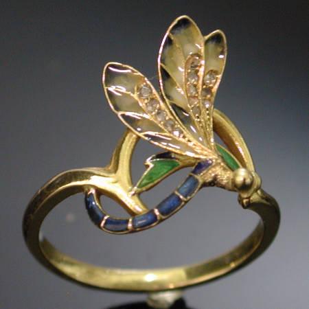 plique ajour art nouveau ring signed dubret images by adin antique