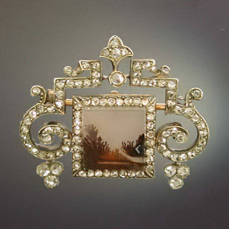 brooch gold faberge carl emerald diamond and ruby