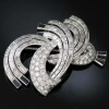8+ Carat Diamonds Platinum Estate Brooch