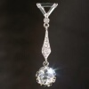 Art Deco pendant with big old mine cut diamond