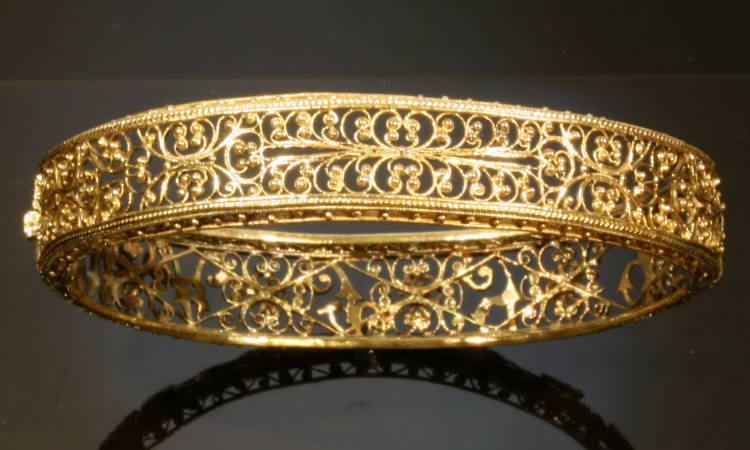 Amazing Gold Filigree Victorian Bracelet From The Austro Hungarian Empire Image 2 Of 7