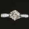 Contemporary diamond engagement ring 18K white gold