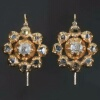 Georgian diamond 18kt gold drop earrings shepherd s crook