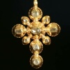Yellow gold 18th Century Georgian cross with rose cut diamonds