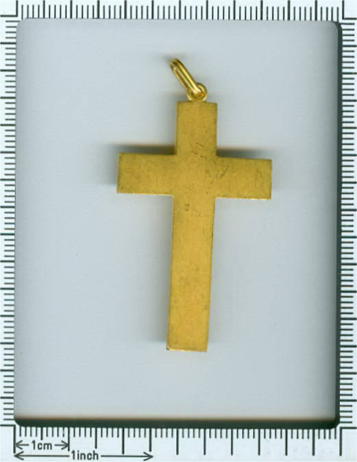 Victorian cross, beautiful elaborated neo Etruscan gold crucifix from Italy (image 7 of 7)
