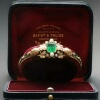 Victorian emerald pearl bangle, orignal box by Bapst & Falize