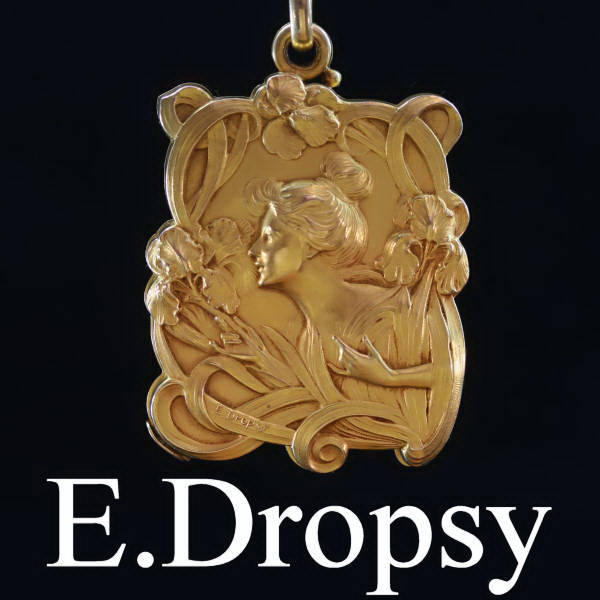 0b094f31485 Magnificent Art Nouveau pendant signed E.Dropsy with sliding mirrors (image  1 of 9