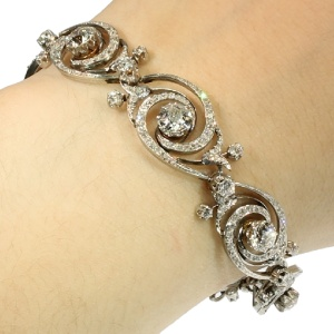 Belle Epoque diamond flexible bracelet by Emile Olive