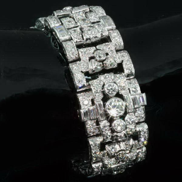 Platinum Art Deco style bracelet as it should be... loaded with diamonds