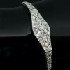 Art Deco diamond flexible bracelet platinum