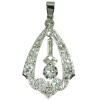 Art Deco style diamond platinum pendant from the Fifties
