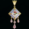 Victorian micromosaic pendant with compartment in the back