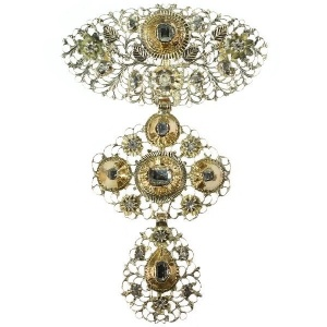 18th Century diamond cross, Jeannette pendant