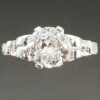 Estate old European cut diamond engagement ring platinum
