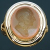 Early Victorian antique intaglio gold gents ring