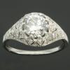 Belle Epoque diamond engagement ring platinum fine estate jewelry