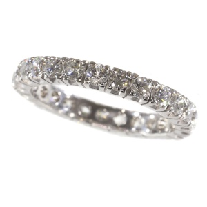 18K white gold estate eternity band with 2.50 carat diamonds