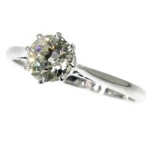 Platinum vintage Art Deco engagement ring