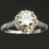 French estate diamond platinum engagement ring