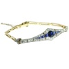 Belle Epoque gold and platinum bracelet with diamonds and sapphires