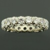 Estate alliance or eternity band with big brilliant cut diamonds