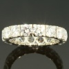 Vintage eternity band with 3.20 carat brilliant cut diamonds