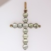 Victorian antique silver on gold cross