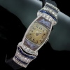 Art Deco Movado ladies watch with diamonds sapphires and cameos