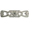 Estate platinum Art Deco bar brooch with diamonds from the Fifties