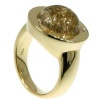 Artist Jewelry by Chris Steenbergen gold ring with diamond and rutile quartz