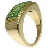 Artist Jewelry Chris Steenbergen gold ring with emeralds