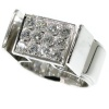 Artist Jewelry by Chris Steenbergen white gold diamond ring