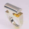 Artist Jewelry Chris Steenbergen silver and gold ring