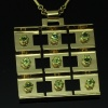 Artist Jewelry by Chris Steenbergen gold necklace and pendant set with peridot