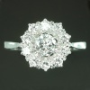 Estate diamond cluster engagement ring
