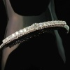 Estate diamond in-line bangle