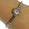 Jaeger LeCoultre White Gold Diamonds Set Bracelet Lady Watch Back Winding