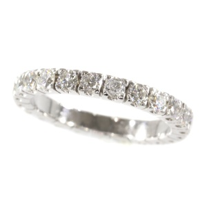 White gold estate eternity band or a so-called alliance ring