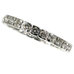 Estate eternity band white gold with 1.00 crt brilliant cut diamonds