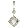 Antique Edwardian big rose cut pendant