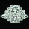 French diamond Art Deco engagement ring