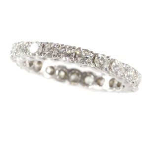 White gold diamond estate eternity band