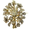 Victorian gold bouquet brooch with beautiful sparkling rose cut diamonds