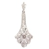 White gold Art Deco diamond pendant