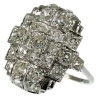 Strong design Art Deco platinum diamond ring