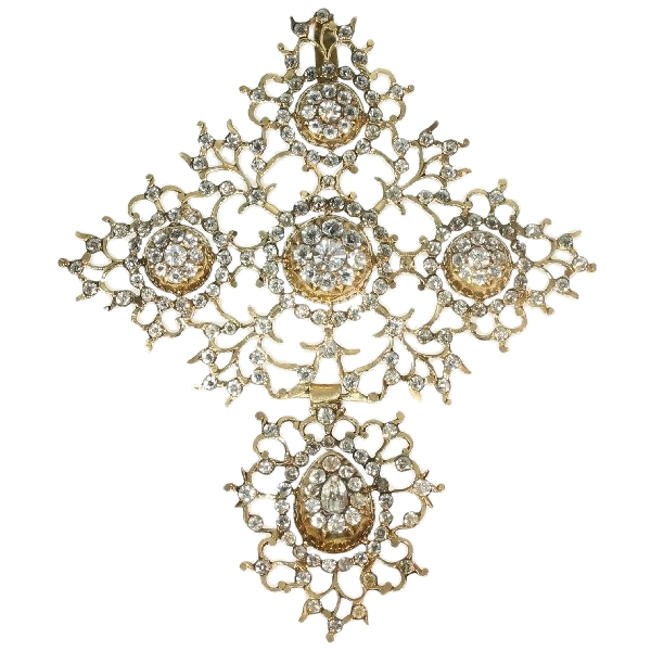 French antique gold Normandic cross Georgian period