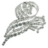 Estate white gold brooch encrusted with brilliants