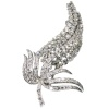 Rich estate diamond platinum brooch of high quality