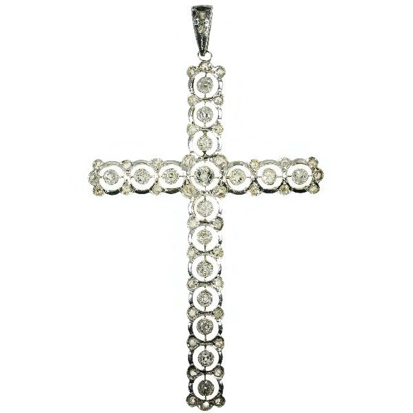 Belle Epoque antique diamond cross pendant