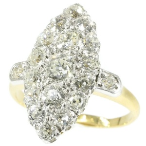 Late Victorian diamond engagement ring